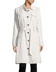 Bb Dakota Button Front Trench Coat Oyster