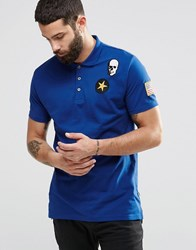Only And Sons Only And Sons Polo With Badge Detailing Blue