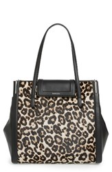 Louise Et Cie Ivie Leather And Calf Hair Tote
