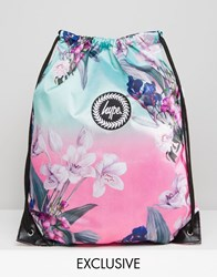 Hype Exclusive Soft Floral Drawstring Backpack Soft Floral One