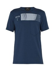 Stone Island Shadow Project Shadow Project Printed Cotton T Shirt Blue