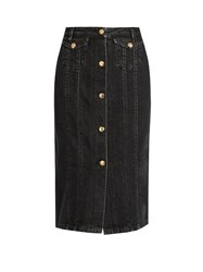 Acne Studios Garea Cotton Blend Denim Skirt Black