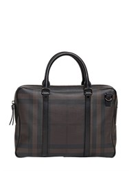 Burberry Checked Faux Leather Laptop Bag