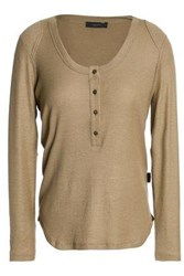 Belstaff Ribbed Stretch Jersey Top Sage Green