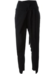 Ann Demeulemeester Front Fold Trousers Black