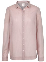 Fat Face Rachel Relaxed Stripe Shirt Blush