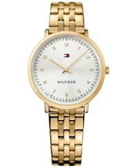 Tommy Hilfiger Women's Casual Sport Gold Tone Stainless Steel Bracelet Watch 35Mm 1781761