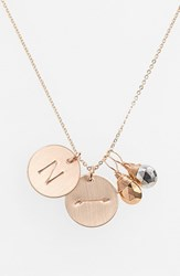 Women's Nashelle Pyrite Initial And Arrow 14K Gold Fill Disc Necklace Gold Pyrite Silver Pyrite N