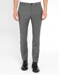 Paul Smith Grey Blend Wool Slim Fit Trousers