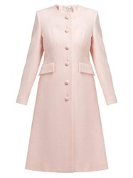 Goat Hampton Single Breasted Wool Crepe Coat Light Pink