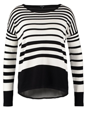 Comma Jumper Black White