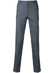 Hugo Boss Tapered Slim Fit Trousers Blue