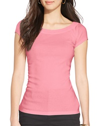 Lauren Ralph Lauren Cotton Ballet Neck Shirt Pink