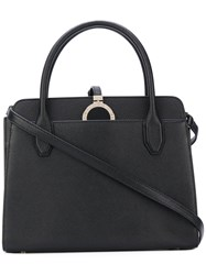 Bulgari Disk Detail Tote Women Calf Leather Metal Other One Size Black
