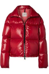 Moncler Quilted Shell Jacket Red