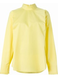 Jil Sander High Collar Blouse Yellow And Orange