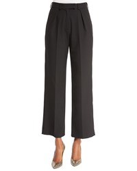 Zac Posen Pleated Front Ankle Pants Licorice Liqourice