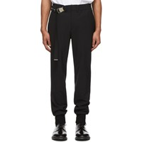 Wooyoungmi Black Belted Trousers