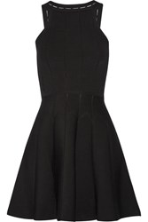 Cushnie Et Ochs Cutout Stretch Knit Mini Dress Black