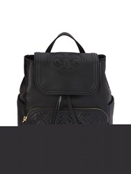 Tory Burch Fleming Quilted Leather Backpack Black
