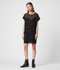 Allsaints Loran Embellished Dress Black