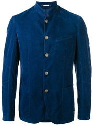 Massimo Alba Fitted Sport Jacket Men Cotton 50 Blue
