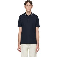 Burberry Navy Logo Ryland Polo