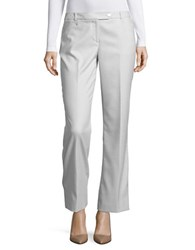 Calvin Klein Petite Textured Straight Leg Dress Pants Grey