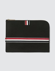 Thom Browne Unlined Small Gusset Folio Black