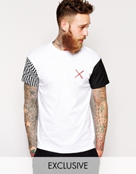 Reclaimed Vintage T Shirt With Contrasting Sleeves White
