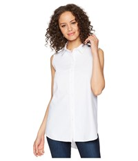 Lysse June Button Down Sleeveless Top White Clothing
