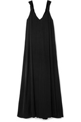 Elizabeth And James Laverne Knotted Cady Maxi Dress Black Gbp