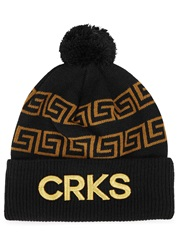 Crooks And Castles Black Intarsia Knitted Beanie