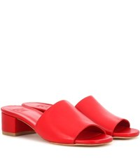 Maryam Nassir Zadeh Sophie Leather Sandals Red