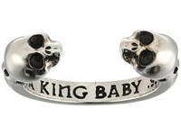 King Baby Studio Open Ring W Skulls Silver