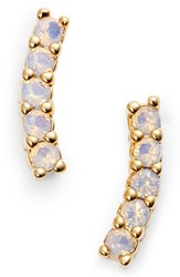 Five And Two Meg Crystal Ear Crawlers Opal Gold