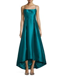 Black Halo Adashi Sleeveless High Low Gown Green Women's Grotto Green