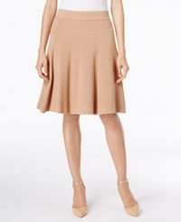 Alfani Fit And Flare Sweater Skirt Only At Macy's Modern Camel