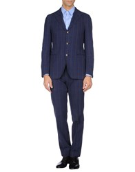 Piombo Suits And Jackets Suits Men Dark Blue
