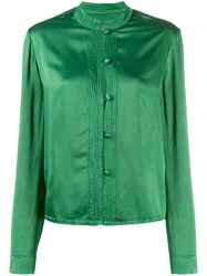 Raquel Allegra Button Down Long Sleeve Blouse 60
