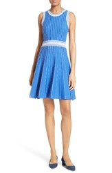 Milly Women's Ribbed Knit Fit And Flare Dress