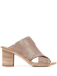Officine Creative Crossover Strap Mules Gold