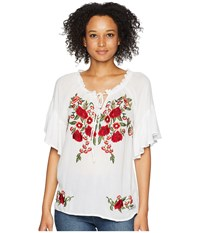 Scully Omalley Beautiful Embroidered Summer Top White Clothing