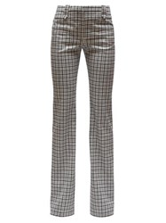 Altuzarra Checked Wool Serge Tailored Trousers Black White