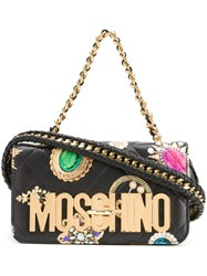 Moschino Jewel Print Shoulder Bag Black
