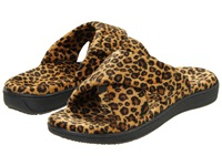 Vionic With Orthaheel Technology Relax Slipper Tan Leopard Women's Slippers Animal Print
