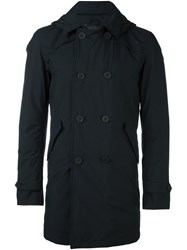 Herno Double Breasted Down Coat Black
