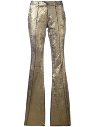 Nude Flared Trousers Metallic