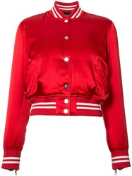 Amiri Baseball Jacket Women Silk Xs Red