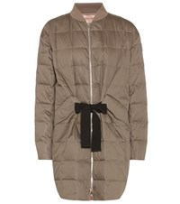 Moncler Gamme Rouge Down Filled Cotton And Silk Coat Green